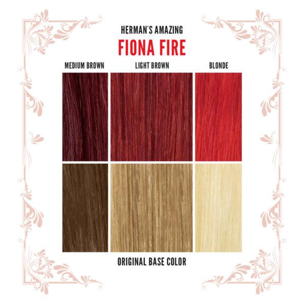 Fiona Fire Colour Chart
