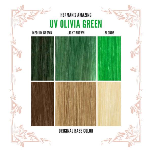 Olivia Green Colour Chart
