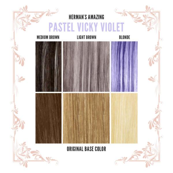 Vicky Violet Colour Chart