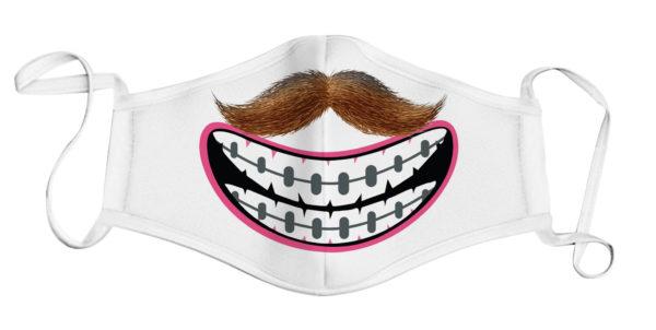Face Mask - Moustache/Braces