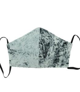 Face Mask - Cotton Splash Black/Grey