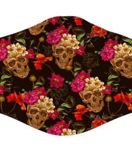 Face Mask - Skull Rose