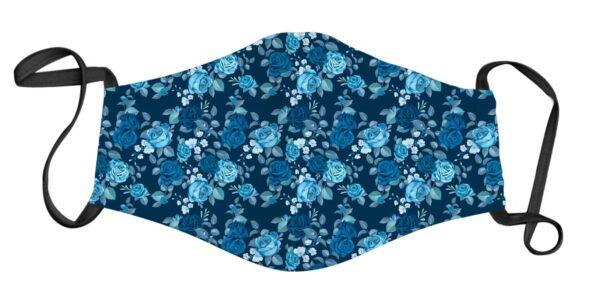 Face Mask - Blue Flower