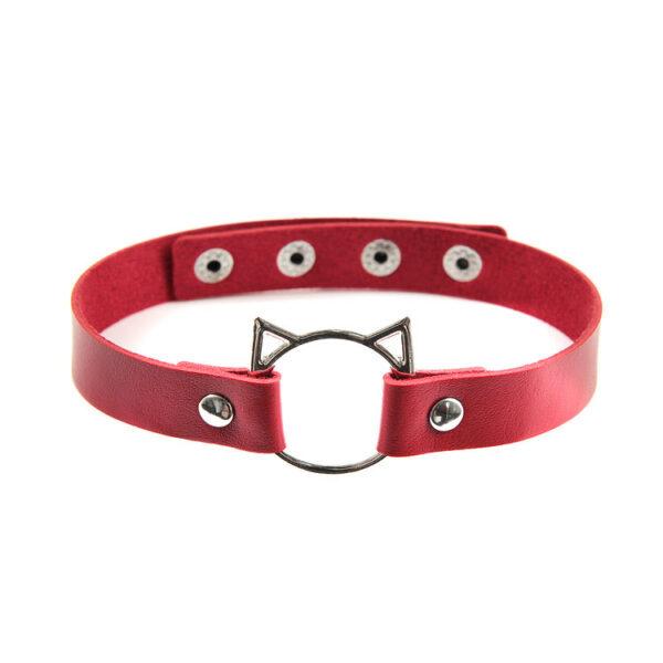 Red Cat Ring Choker
