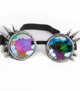 Spike Kaleidoscope Goggles- Silver