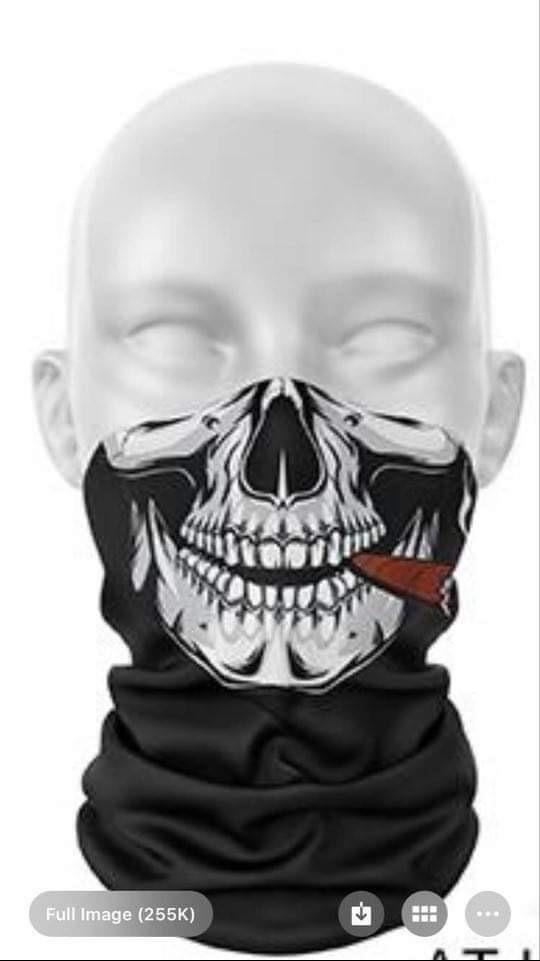 Cigar Skull Protection Tube Scarves