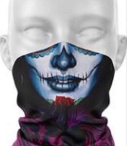 Stitches Blue Face Protection Tube Scarves
