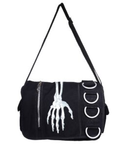 Skeleton Hand Messenger Bag