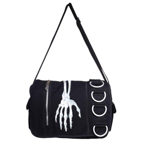 Skeleton Hand Messenger Bag