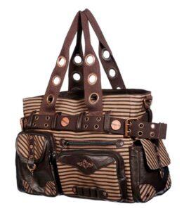 Steampunk Brown Striped Bag