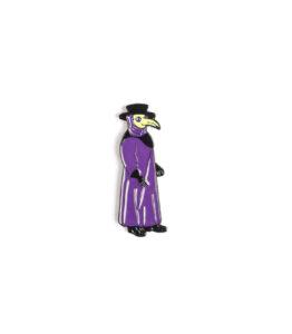 Bird Man Purple Coat Pin