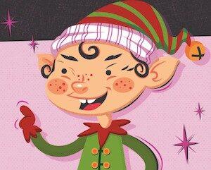 Cute Elf Christmas Gift Voucher