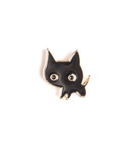 Weird Black Cat Pin
