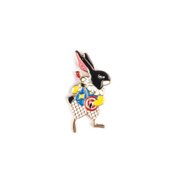 Banjo Playing Rabbit Pin