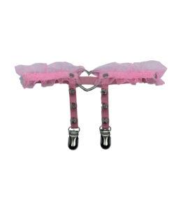 Pink Love Heart Leg Garter
