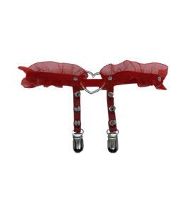 Red Love Heart Leg Garter