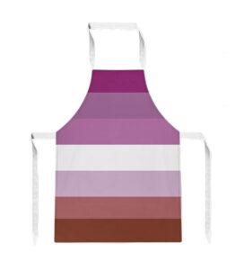 Pride Lesbian Flag Apron