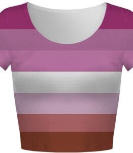 Pride Lesbian Flag Crop Top