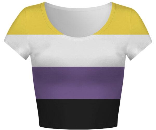 Pride Non Binary Flag Crop Top