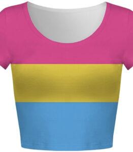 Pride Pansexual Flag Crop Top