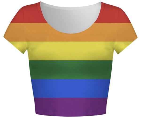 Pride Rainbow LGBTQ Flag Crop Top