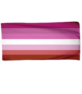 Pride Lesbian Flag Beach Towel