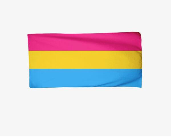 Pride Pansexual Flag Beach Towel