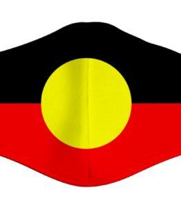 Aboriginal Flag Print Face Mask