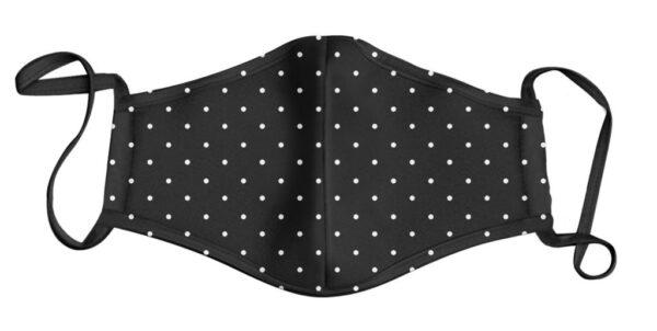Black and White Poker Dot Face Mask