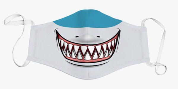 Shark Print Face Mask