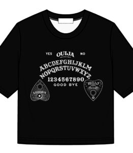 Ouija Board Print Crop Top