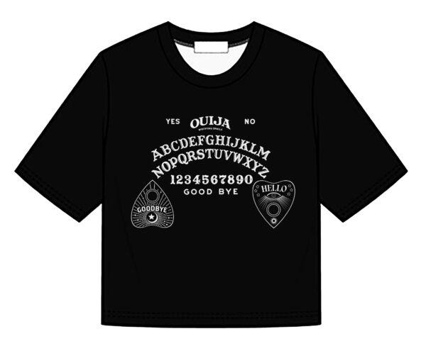 Ouija Board Print Crop Top