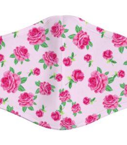Pink Rose Garden Face Mask