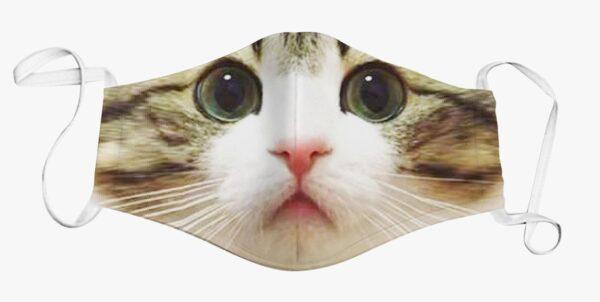 Kids Face Mask Kitty Print