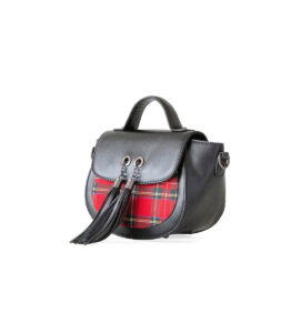 Banned Apparel Cameron Red Tartan Plaid Nymph Shoulder Bag