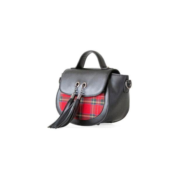 Banned Apparel Cameron Red Tartan Plaid Nymph Shoulder Bag