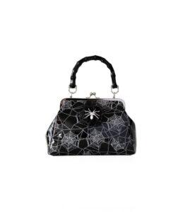 Banned Apparel Black Spider and Web Handbag