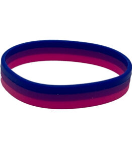 Bisexual Flag Silicone Bracelet