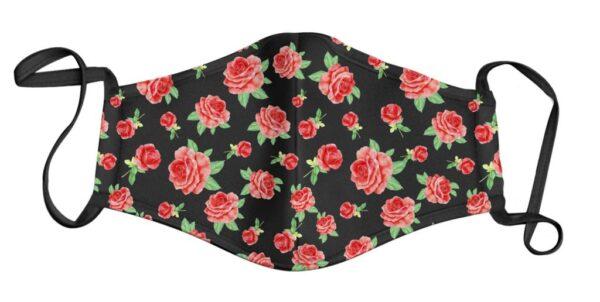 Black Rose Garden Face Mask