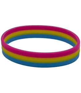 Pansexual Flag Silicone Bracelet
