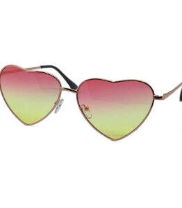 Heartbreaker Pink and Yellow Lens Sunglasses